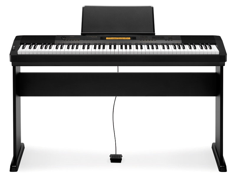 Casio CDP-230R BK digitális zongora ÁLLVÁNNYAL!